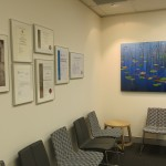 Dr Kevin Ho patient waiting area with artwork